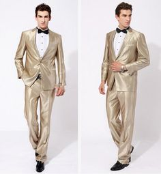 New Arrival Groom Tuxedos Peak Lapel Best Man Suit Shiny Beige Groomsman/Bridegroom Wedding/Prom Suits Jacket+Pants+Tie For Wedding Formal Clothes For Men Styles Formal Clothes Men From Goldbrandshop, $84.68| Dhgate.Com