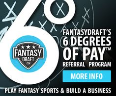 You can make money at FantasyDraft...even if you don't play games! Sign up here and find out how www.realmoneyfantasyleagues.com/go/fantasy-draft.php and get in on the action!