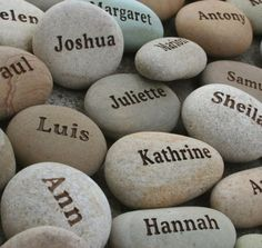Personalized Wedding Favors with Guests' Names Set by sjengraving, $345.00