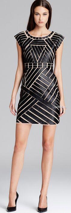 Catherine Malandrino Dress - Avalon Faux Leather Applique