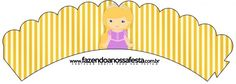 Saias Wrappers para Cupcakes Princesa Loira Cupcakes Princesas, Princess Rapunzel, Boy Birthday, Aurora Sleeping Beauty, Printables, Html, Candy, Bar, Prince Charming