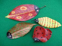 13 increíbles manualidades con hojas de árboles