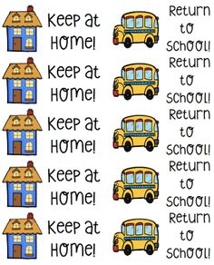 """Label students' Take Home Folders with """"Keep at Home"""" and """"Return to School"""" stickers to help organize and manage the paperwork going from school to home."""