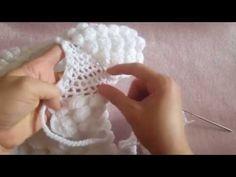 kabartmalı damlalar bayan yelekleri ve bebek battaniyesi örgü modeli - YouTube