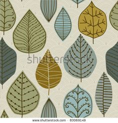 A seamless pattern with leaf,autumn leaf background by Markovka, via ShutterStock