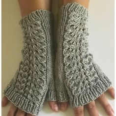 Hand knit fingerless gloves, merino fingerless gloves, gray texting... ($30) ❤ liked on Polyvore featuring accessories, gloves, hand knit gloves, mitt glove, hand knitted fingerless gloves, hand knit fingerless gloves and merino wool gloves