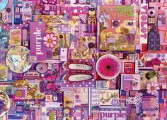 Rainbow Project: Purple - 1000pc Jigsaw Puzzle by Cobble Hill: https://www.seriouspuzzles.com/i23377.asp