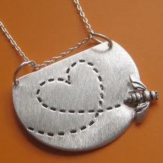 Bumble Bee Love Necklace by sudlow on Etsy, $50.00