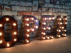 Marquee Light Bulb Letters 14 18 24 36 inch aged copper for any ONE letter or number on Etsy, £44.93