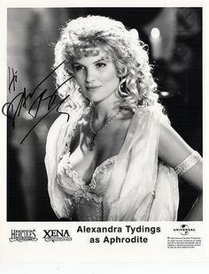 TV Star Alexandra Tydings Autograph Signed Photo - Aphrodite Hercules Xena - comes with certificate of authenticity. Tydings is an American actress, best known for her role as Greek goddess Aphrodite