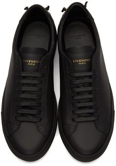 Givenchy - Black Knot Sneakers Givenchy Mens Shoes, Givenchy Sneakers, Dress With Sneakers, Black Shoes Sneakers, Men's Sneakers, Sneakers Fashion, Casual Shoes, Fashion Shoes, Mens Fashion