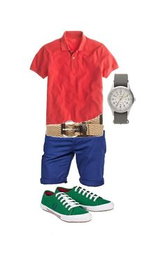 Understated Colorblocking Polo: J. Crew, $42.50 Shorts: ASOS, $41.40 Shoes: Fred Perry, $75 Belt: Ben Sherman, $30 Watch: Timex for J. Crew, $98 Get styled at www.taylorallynmode.com