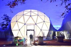 The Geo Domes on Halloween 2015 @AnnasWelshZoo