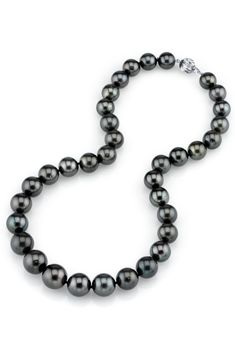 Radiance Pearl 11-13mm Black Tahitian Pearl & 14k W. Gold Necklace - Beyond the Rack