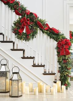 Set the holiday scene in an instant with a mixture of greenery that's amazingly full and realistic. Our Christmas Cheer Greenery Collection overflows with sprays of Scotch and pistol pine, noble fir, pinecones and ruby red berries, pre-lit with long-burning lights.