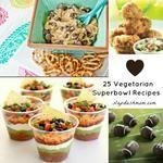 25 Vegetarian Super Bowl Recipes #SB47