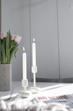 Nappula Candle holders By Iittala, pure & Things Organized Neatly, Apartment Makeover, Flower Centerpieces, Scandinavian Design, Finland, Tulips, Candle Holders, Candles, Pure Products