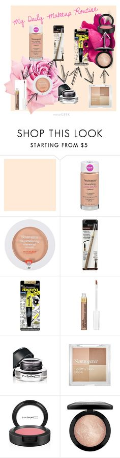 """""""My Daily Makeup Routine"""" by epickitty58 ❤ liked on Polyvore featuring beauty, Neutrogena, Milani, L'Oréal Paris and MAC Cosmetics"""