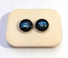Hand painted Blue and Green Galaxy Earrings by GalaxyIllusion