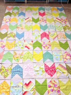 Pow Wow quilt from scraps