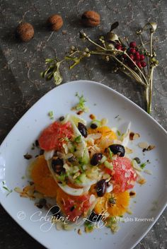 Insalatina di finocchi, agrumi e mandorle tostate / Fennel, citrus and toasted almonds