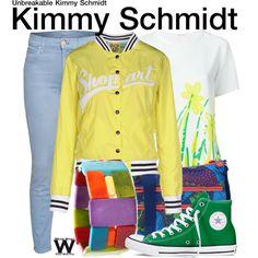 Inspired by Ellie Kemper as Kimmy Schmidt on Unbreakable Kimmy Schmidt.