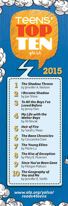 YALSA's Teens' Top Ten | Young Adult Library Services Association (YALSA)