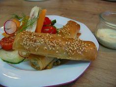 Cuisine en folie: Cigares croustillants à la féta, citron confit et aux herbes