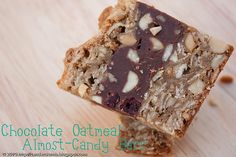 Chocolate Oatmeal Almost Candy Bars . . . . . .yum