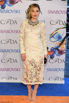 Sophia Bush in Marchesa dress at CFDA Fashion Awards 2014.