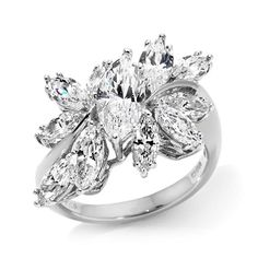 Victoria Wieck 2.7ct Absolute™ Marquise Cluster Ring needs 0.6mm Grunberger diamonds on the side and interior of band
