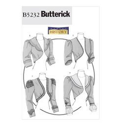 """Butterick """"Making History"""" Misses' Victorian Bolero-style Jacket Pattern suitable for Halloween or Steampunk costume Victorian Costume, Victorian Steampunk, Edwardian Dress, Edwardian Fashion, Victorian Dresses, Vintage Sewing Patterns, Clothing Patterns, Sewing Clothes, Diy Clothes"""