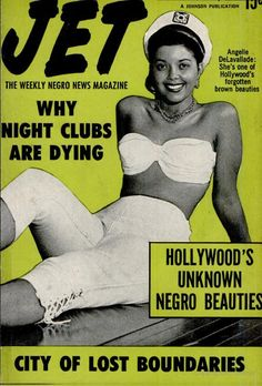 Hollywood's Forgotten Negro Beauties. Cover features Angelle DeLavallade, one of Hollywoods's forgotten brown beauties. Vintage Jet Magazine Cover, Nov 22, 1951