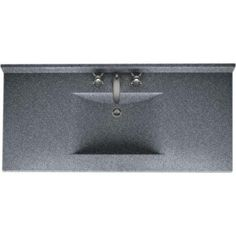 Swanstone Contour 43 in. Solid Surface Vanity Top in Night Sky with Night Sky Basin-CV2243-012 at The Home Depot - the right size for our counter top