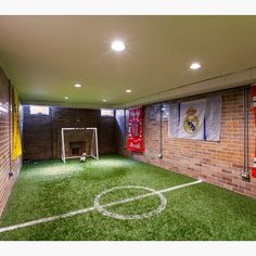 An indoor soccer field⚽️⚽️ Tag friends who would love this in their home! Credit to Red Pencil Architecture