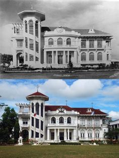 Dito, Noon: Lizares Mansion, Jaro, Iloilo City, x -- The Lizares Mansion built in the 1937 by Emiliano and Conchita Lizares. The structure became home to the Japanese Imperial Army a casino Dominican Formation House and Angelicum School Filipino Architecture, Philippine Architecture, Senior Citizen Humor, Filipino House, Iloilo City, Filipino Culture, Manila Philippines, Ideal Home, Old Houses