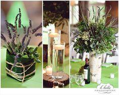 lavender, rustic wedding