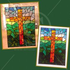 Handpainted window cling Decorative Cross for glass & mirror surfaces, religious static cling faux stained glass decal by EmmaJanesGifts on Etsy https://www.etsy.com/listing/226537594/handpainted-window-cling-decorative