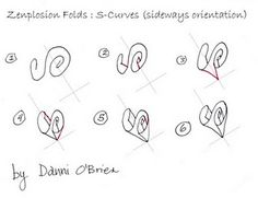 Zenplosion Folds #Zentangle