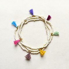 Colorful Tassel Necklace - Kurafuchi Jewelry
