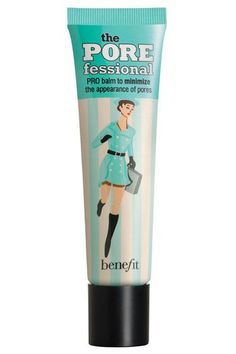 Benefit POREfessional  A little of this clear gel goes a long way under sheer makeup like tinted moisturizers and powder foundations. Just dab on a pea size amount and spread over your skin for an airbrushed-like effect that makes pores and uneven patches less noticeable.