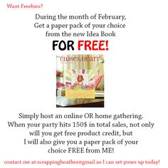 Want freebies? find out how to get a Free paper pack from me!