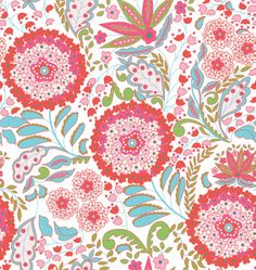 Little Azalea Collection by Dena Designs for FreeSpirit Fabrics - Lantana in Red