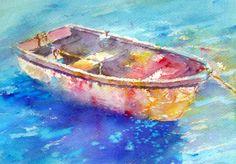 Brusho Boat.  Joanne Boon Thomas
