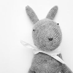 Hand Knit Bunny Rabbit Doll, Woodland animal now in my etsy shop.