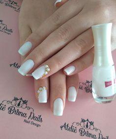Com Pedrarias! Nail Designs, Nails, Finger Nails, Ongles, Nail Desings, Nail, Nail Design, Nail Organization, Nail Art Ideas