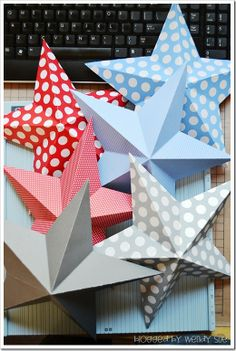 3-d star garland tutorial by wendy sue anderson for doodlebug