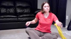 Shoulder Exercises & Stretches with a Resistive Band - Doctor Jo shows you… Shoulder Exercises Physical Therapy, Shoulder Rehab Exercises, Back Pain Exercises, Shoulder Workout, Sore Shoulder, Neck And Shoulder Pain, Rotator Cuff Exercises, Band Exercises, Yoga Exercises