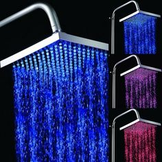 "8"" Color Changing LED Square Bathroom Shower Head LD8010-A8-Wholesale Faucet"