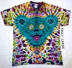 Free Shipping - Handmade Spun Bear Tie Dye Shirt